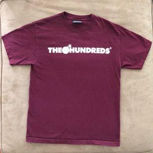 ‼️SOLD‼️The Hundreds Burgundy T-Shirt Medium